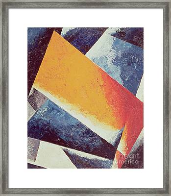 Architectonic Composition Framed Print by Lyubov Sergeevna Popova
