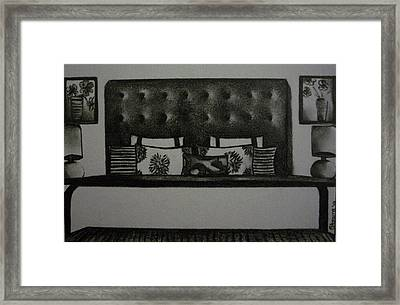 Architectural Bedroom Rendering Framed Print