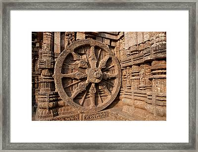 Architectural Detail Of Stone Carved Framed Print by Panoramic Images