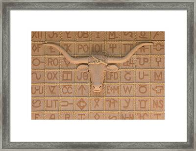 Architectural Detail On The Panhandle-plains Historical Museum In Canyon Framed Print by Carol M Highsmith
