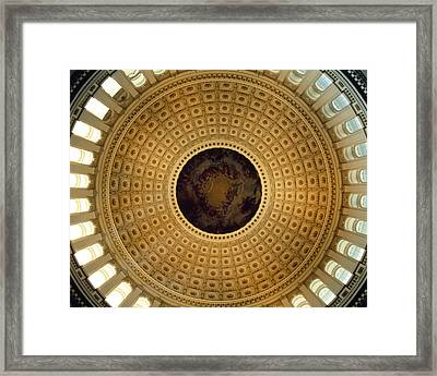 Architectural Details Of The Ceiling Framed Print by Panoramic Images