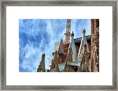 Architectural Details Of The Sagrada Familia Framed Print