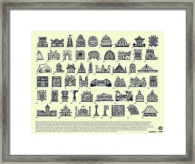 Architectural Icons Of India - Large Framed Print