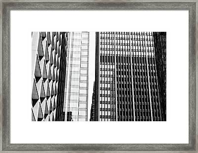 Architectural Pattern Study 1.0 Framed Print