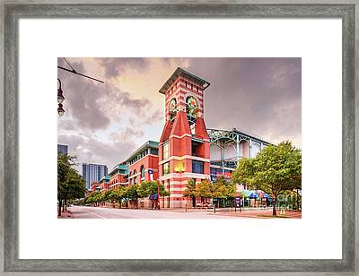 Architectural Photograph Of Minute Maid Park Home Of The Astros - Downtown Houston Texas Framed Print
