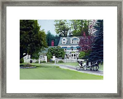 Architectural Portrait Champagne Carraige Ride Framed Print by Gail Wurtz
