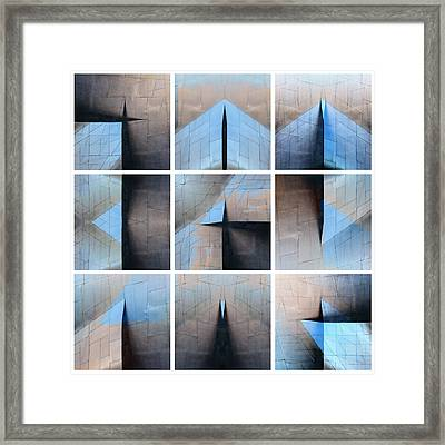 Architectural Reflections Nine-print Panel Framed Print by Carol Leigh