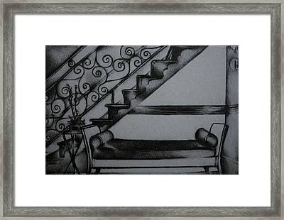 Architectural Rendering Of Furniture Framed Print by Stacey Abrams