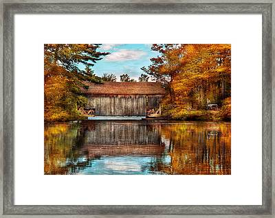 Architecture - Bridges - Worn Out But Still Used Framed Print by Mike Savad