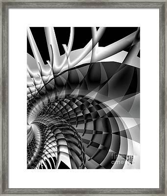 Architecture 101 Fractal Structure, Black, White Framed Print
