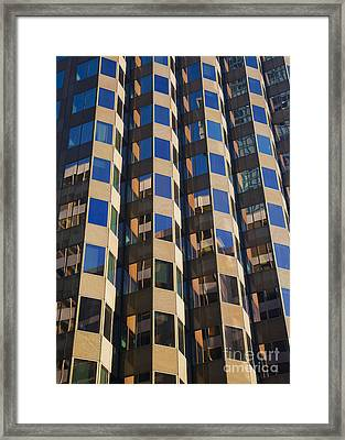 Architecture Abstract Framed Print by Chris Dutton