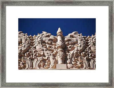 Architecture At The Lensic Theater In Santa Fe Framed Print