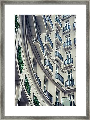 Framed Print featuring the photograph Architecture Background  by Ariadna De Raadt