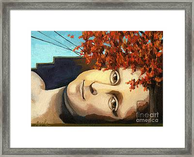 architecture building - Mona Lisa painting Framed Print