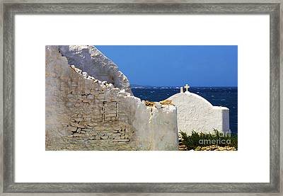 Framed Print featuring the photograph Architecture Mykonos Greece 2 by Bob Christopher
