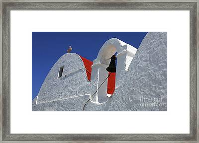 Framed Print featuring the photograph Architecture Mykonos Greece by Bob Christopher