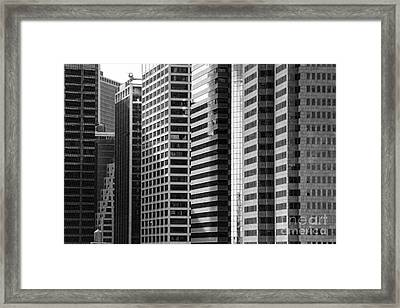 Architecture Nyc Bw Framed Print