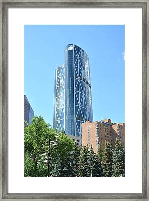 Architecture Of Calgary Framed Print