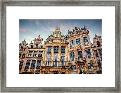 Architecture Of The Grand Place Brussels  Framed Print
