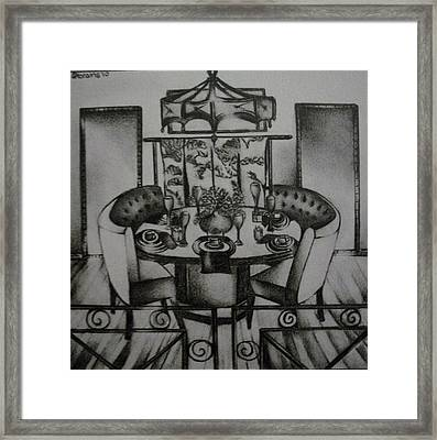 Architecture Rendering-dining Room Framed Print by Stacey Abrams
