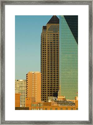 Architecture- Skyline Of Dallas Texas Framed Print by Anthony Totah