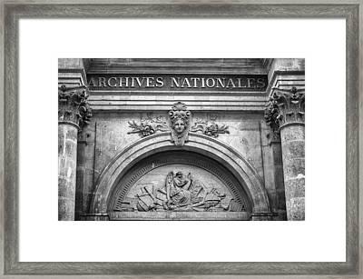Archives Nationales Framed Print