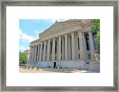 Archives Of The United States Of America -- Pennsylvania Avenue Framed Print