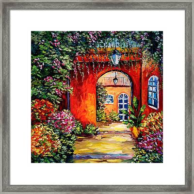 Archway Garden Framed Print by Beata Sasik