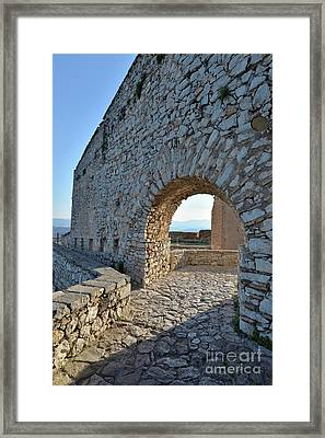 Archway In Palamidi Castle Framed Print