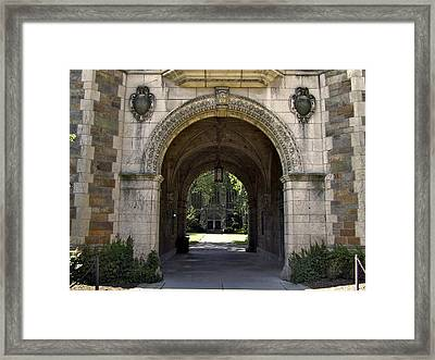 Archway To Education Framed Print