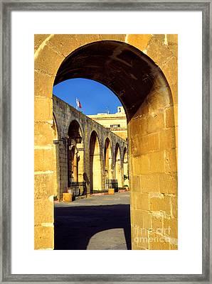 Archway Upper Barracca Gardens Framed Print by Thomas R Fletcher