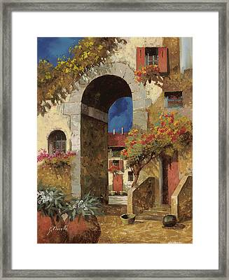 Arco Al Buio Framed Print by Guido Borelli