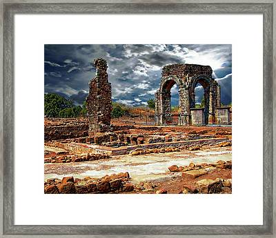 Arco De Caparra Framed Print by Anthony Dezenzio