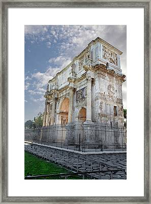 Framed Print featuring the photograph Arco Di Costantino by John Hix