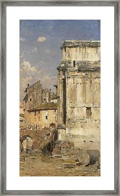 Arco Di Settimio Severo Framed Print