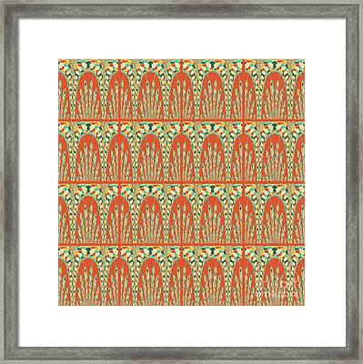 Arcs Pattern Framed Print