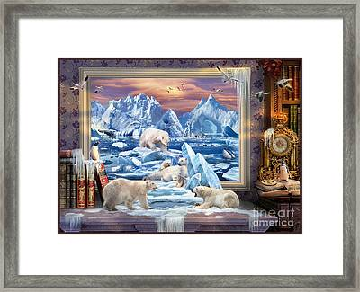 Arctic Bears Coming Framed Print