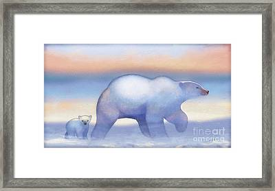 Arctic Bears, Journeys Bright Framed Print by Tracy Herrmann