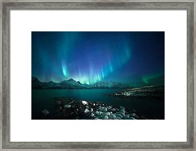 Arctic Blessings Framed Print by Tor-Ivar Naess