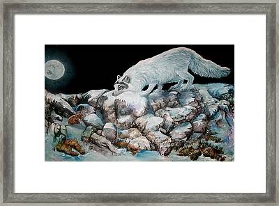 Framed Print featuring the painting Arctic Encounter by Sherry Shipley