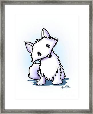 Arctic Fox Framed Print by Kim Niles