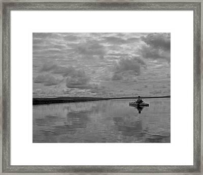 Arctic Kayak Framed Print