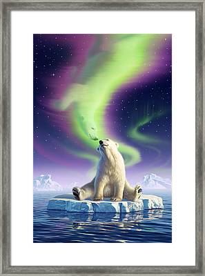 Arctic Kiss Framed Print by Jerry LoFaro