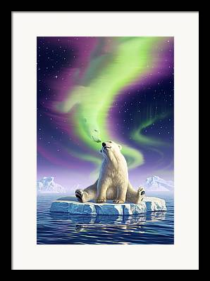Ice Digital Art Framed Prints