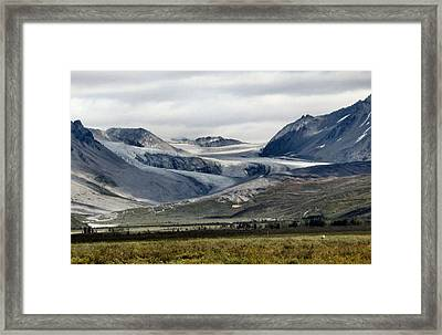 Framed Print featuring the photograph Arctic Man Glacier by Adam Owen