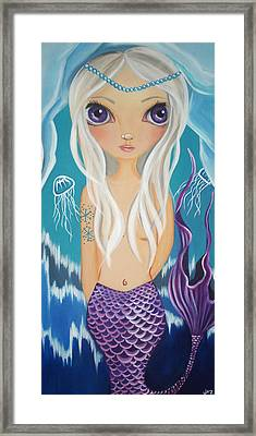 Arctic Mermaid Framed Print by Jaz Higgins