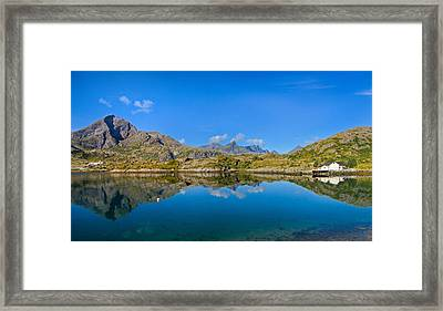 Framed Print featuring the photograph Arctic Reflections by Maciej Markiewicz