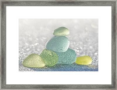 Arctic Spring Sea Glass Framed Print