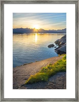 Framed Print featuring the photograph Arctic Sunrise by Maciej Markiewicz