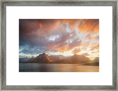 Framed Print featuring the photograph Arctic Susnset by Maciej Markiewicz